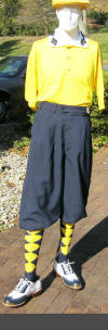 Navy Microfiber golfKnickers Outfit